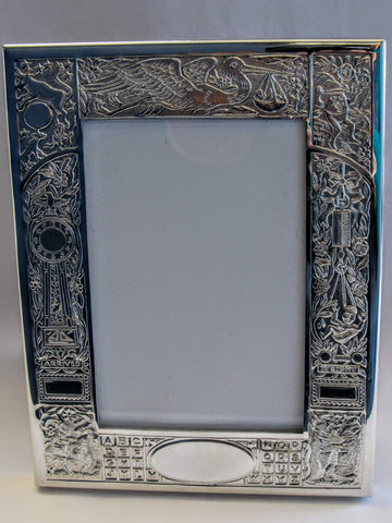 Pewter Birth Record Frame