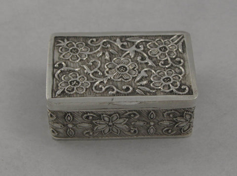 Rectangular Sterling Silver Pill Box