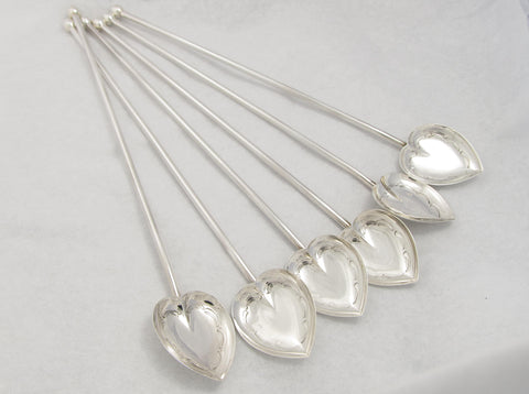 Set of 6 Sterling Silver Sipping Spoons