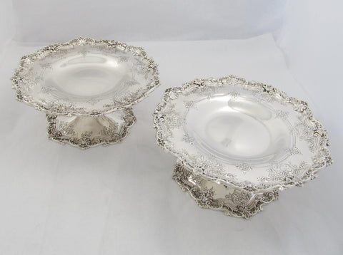 Pair of Sterling Silver Compotes by Howard & Co.
