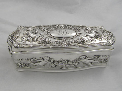 Cherub Sterling Silver Box by Gorham