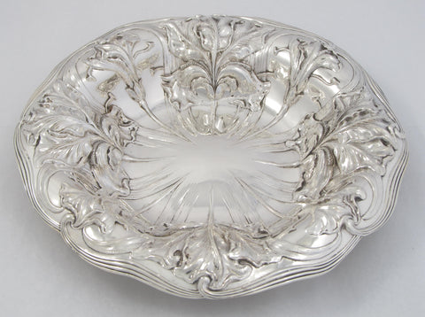 Sterling Silver Repoussé Art Nouveau Bowl by Alvin