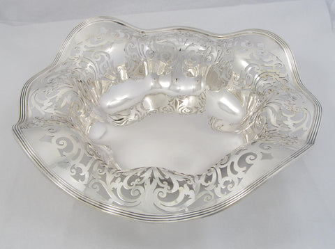 Pierced Sterling Silver Bowl by Wallace