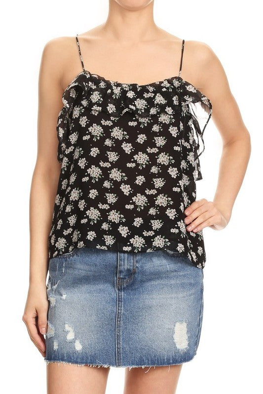 Ditsy Dot Floral Top