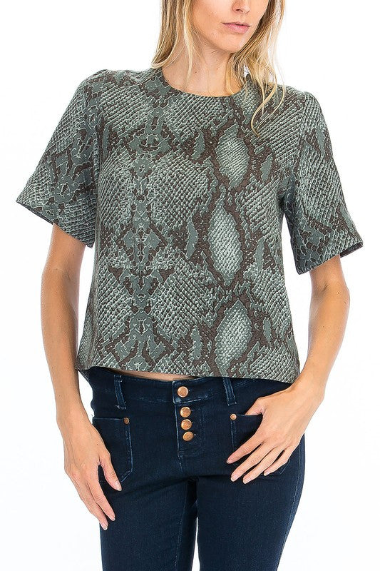 Lace Up Back Snake Top