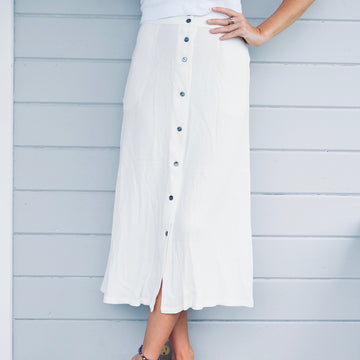 The Olinda Skirt - White