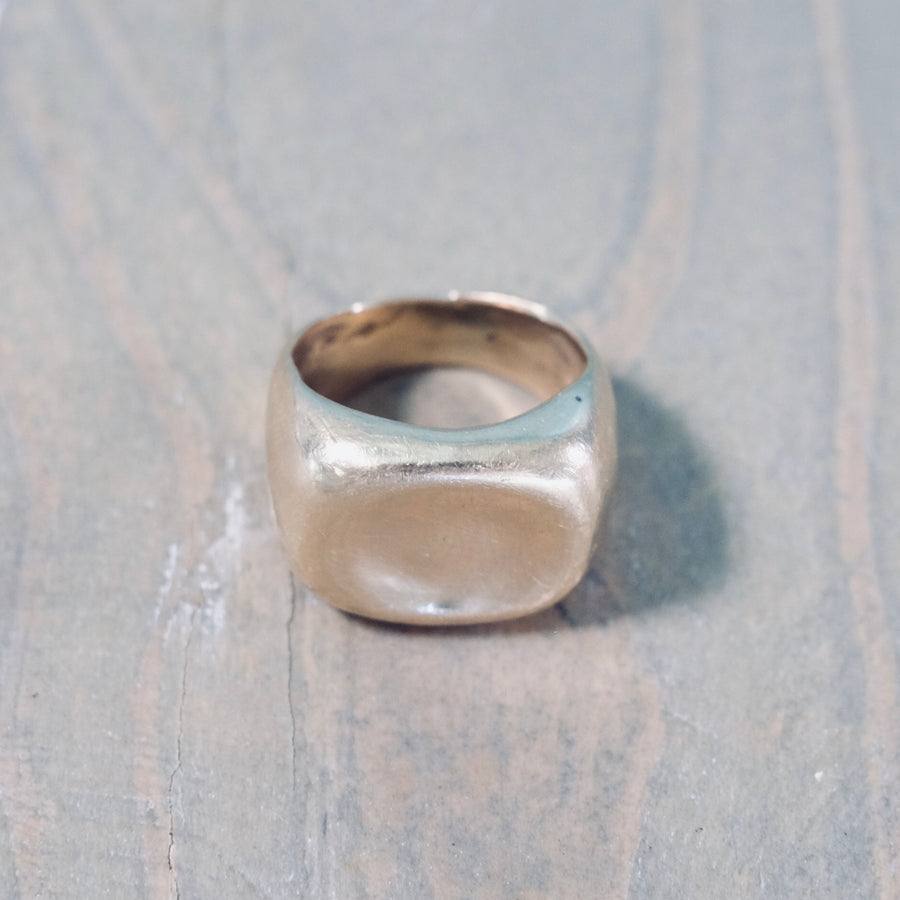 Small Concave Ring - Gold