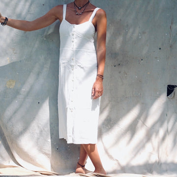 Cypress Dress - White Pebble