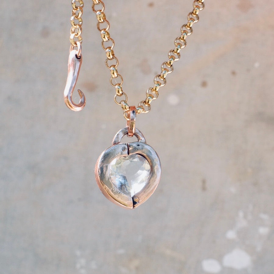 Heart Locket - Quartz