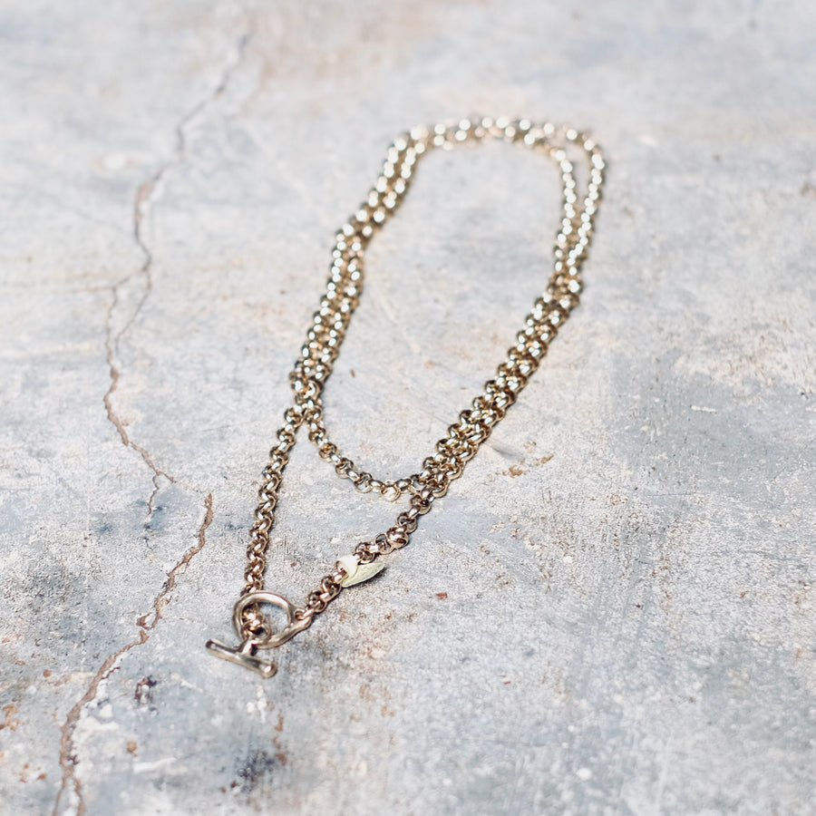 Gold Rollo Chain with Gold Toggle Clasp