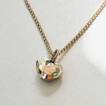 Gold Faceted Heart