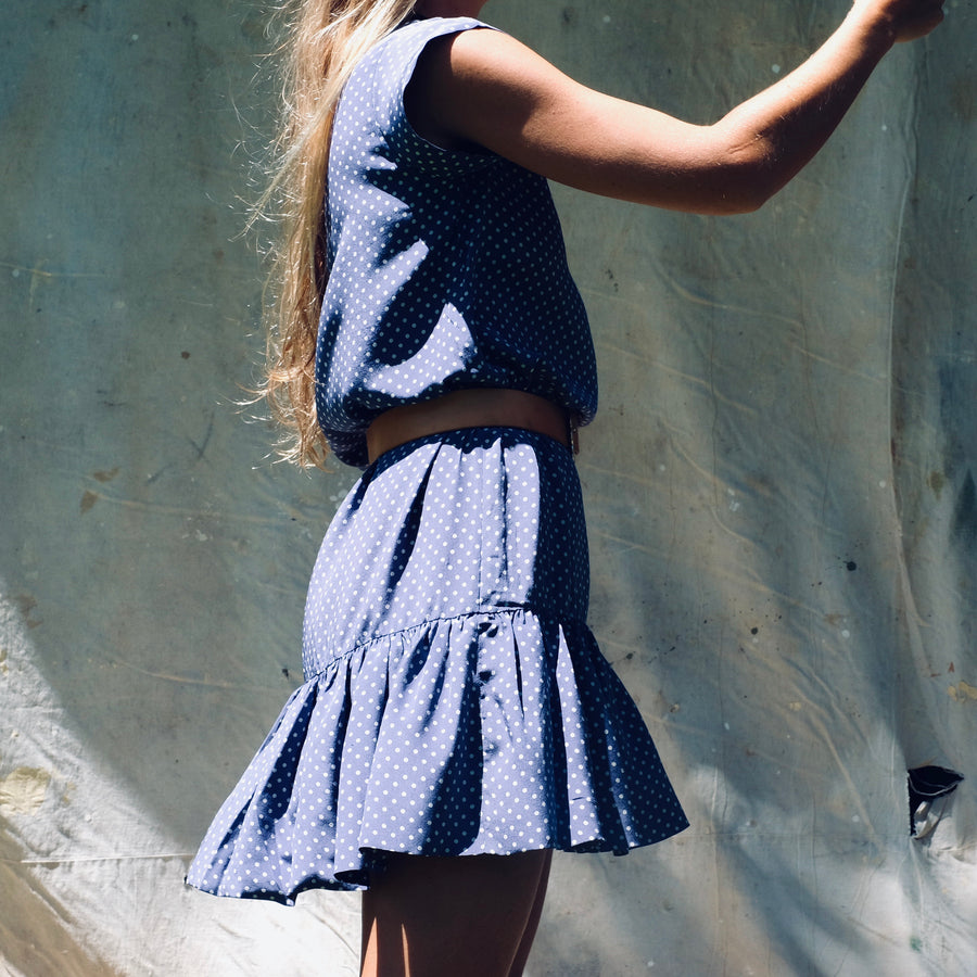 Saline Dress - Blue Dot