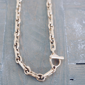 Heavy Gold Link Necklace