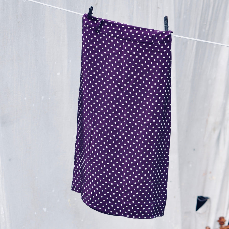 Aspen Skirt - Maroon Dot