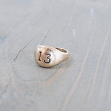 Large 13 Ring - Gold