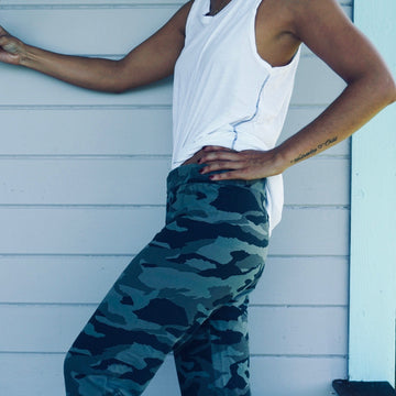 Camo Sweatpants - Sea Clay