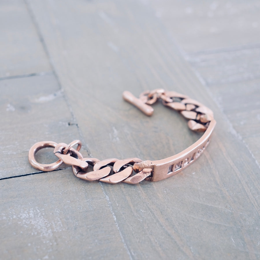 ID Bracelet - Rose Gold