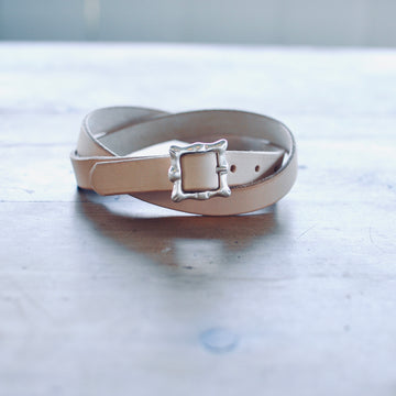 Thin Belt w SS Buckle - Natural