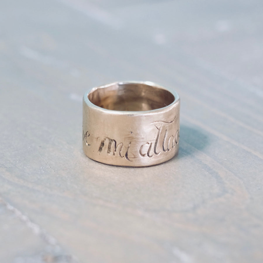 Dove Mi Attaco Muoro Ring - Gold