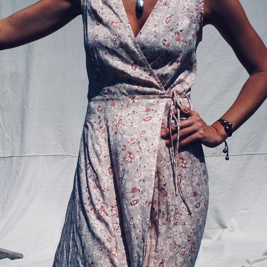 Wrap Dress - Blush Wildflower