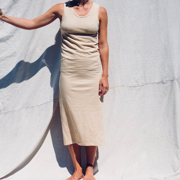 Long Muscle Tank Dress - Sand