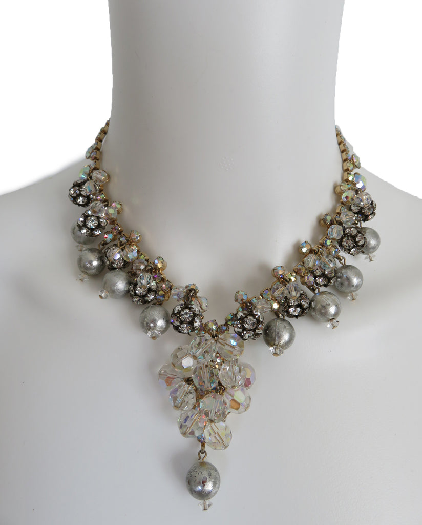 Juliana Pearl Crystal Necklace - Lulu's Vintage