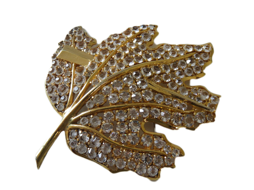 Huge leaf brooch - Lulu's Vintage