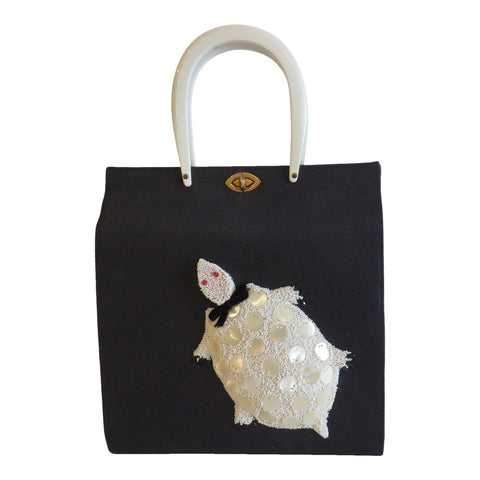 1950 Navy Jolles Novelty handbag