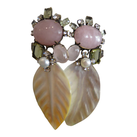 Iradj Moini MOP Leaf earrings