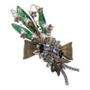 Gripoix green Lillies of the Valley Statement brooch