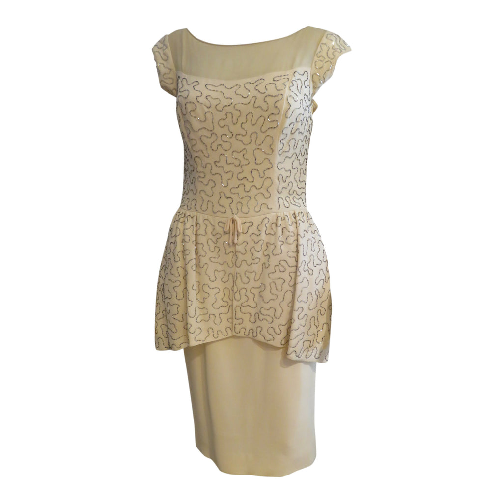 Ivory Peplum Dress