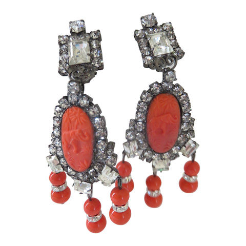 Moans Couture Statement Earrings