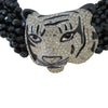 Black jet Panther Choker