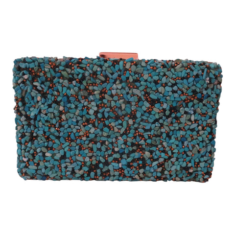Turquoise Stone Clutch