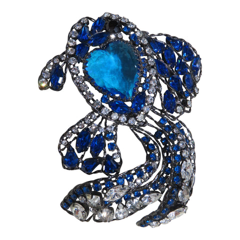 Moans Couture Statement Fish Brooch
