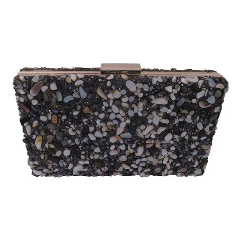 Black and White stone clutch