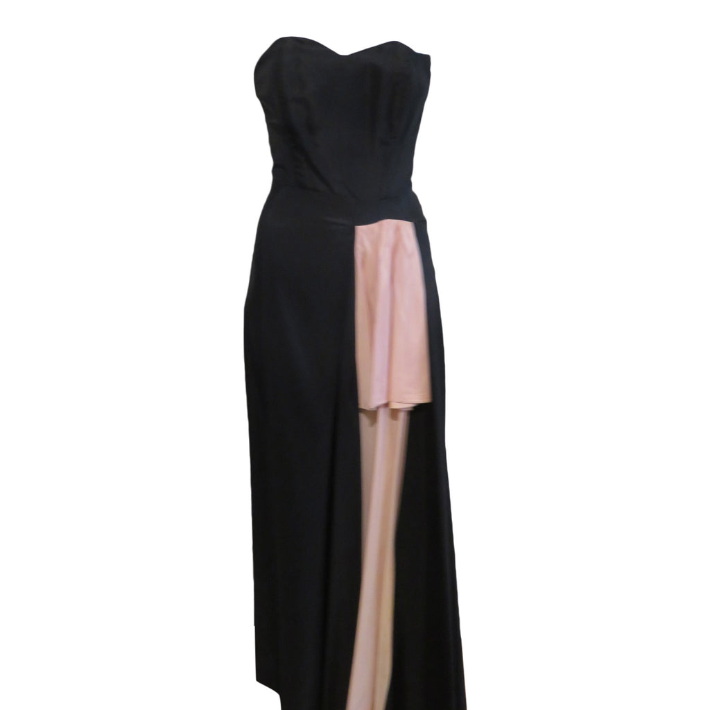 Vintage 1940 strapless evening gown