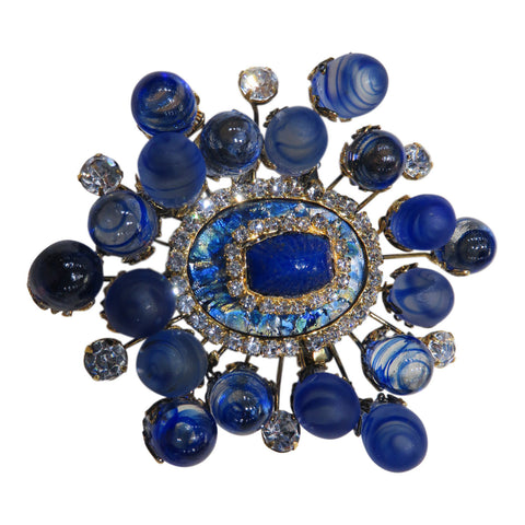 Stunning Moans Couture glass bead brooch