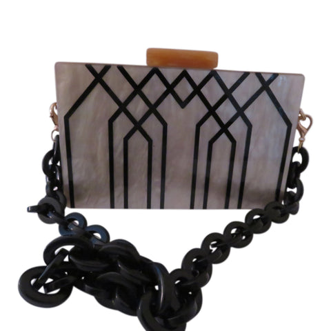 Lucite Art Deco Clutch