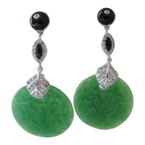 Angelique De Paris Carved glass earrings