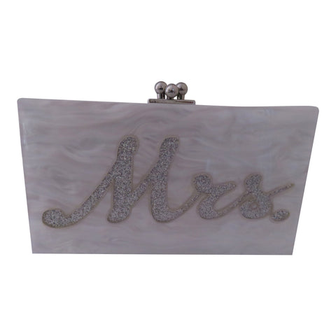 "Lucite ""Mrs"" purse"