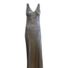Vintage Anna Sui silver lame gown