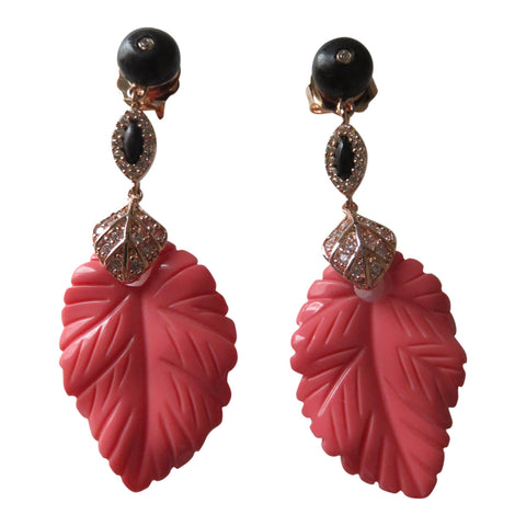 Angelique de Paris Coral earrings