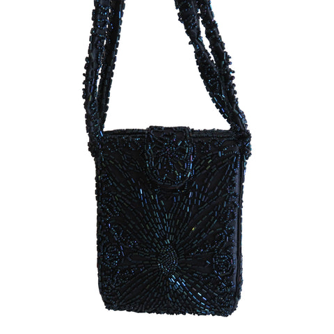 1940 Blue beaded bag