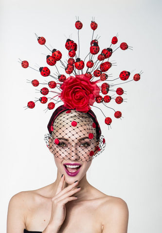 Arturo Rios Lady Bug Fascinator