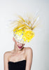 Arturo Rios Yellow Bee Fascinator