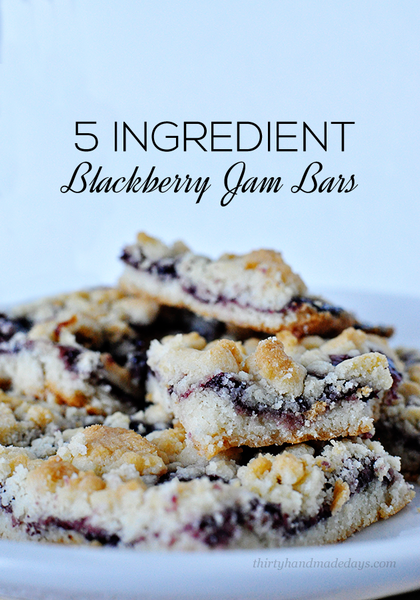 5 Ingredient Blackberry Jam Bars