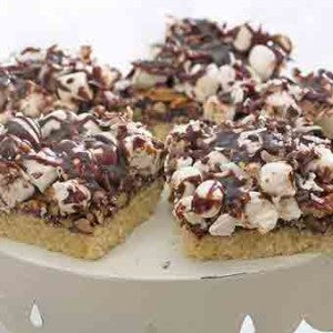 Bittersweet Chocolate Rocky Road Bars