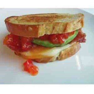 Grilled Cheese with Red Pepper Relish