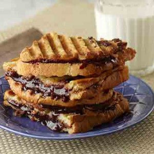 Peanut Butter & Chocolate Banana Panini